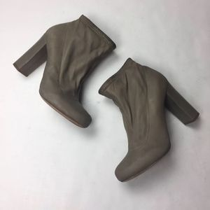 Chloe ankle boots soft leather Heeled Gray